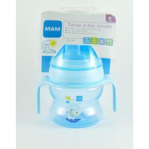 Mam Tasse à bec souple bleu 150 ml