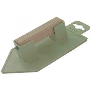 Outibat Taloche plastique ABS jaune triangulaire - Dimensions 8 x 14 cm