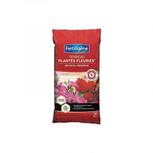 Fertiligene Terreau Plantes Fleuries, Geraniums, Dipladenias - 20 L