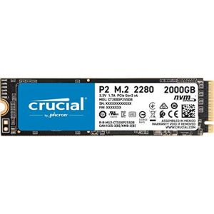 Crucial Disque SSD interne P2 2To 3D NAND NVMePCIe M.2
