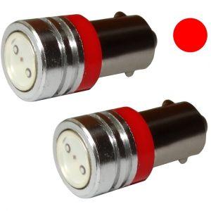 Aerzetix : 2x ampoule T4W T5W BA9s 12V LED HIGH POWER 1W rouge éclairage intérieur plaque d'immatriculation seuils de porte plafonnier pieds lecteur de carte coffre compartiment moteur