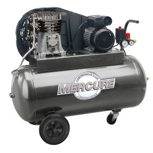 Mecafer 425174 - Compresseur bicylindrique à courroie 100L 2HP