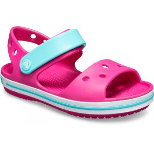 Crocs Crocband - Sandales Enfant - rose/turquoise 33-34 Sandales Loisir