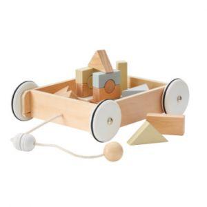 Kids concept Chariot en Bois avec Blocs