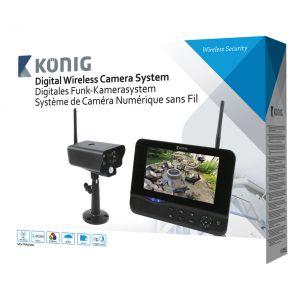 König SAS-TRANS60 - Système de caméra numérique sans fil 2,4 GHz avec moniteur