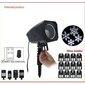 Projecteur laser à films avec télécommande Blanc froid 4 LED