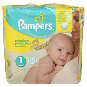 Pampers New Baby Premium Protection taille 1 (2-5 kg) - 22 couches