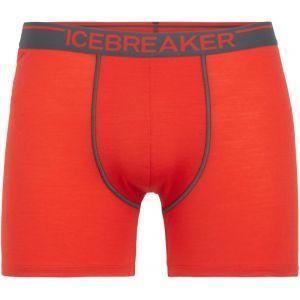 Icebreaker Mens Anatomica Boxers Chili Red/Monsoon Sous-vêtements techniques