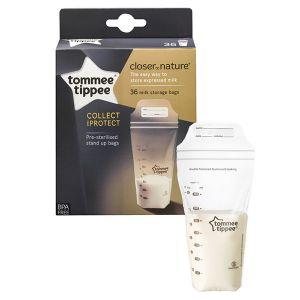 Tommee tippee 36 sachets de conservation du lait maternel