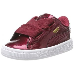 Puma Baskets basses enfant BASKET HEART GLAM INF rouge - Taille 24,26,27