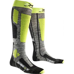 X-Socks Ski Rider 2.0 grey melange/green lime
