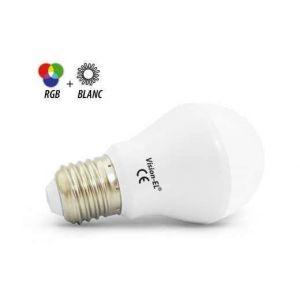 Vision-El Ampoule LED 7W (60W) E27 Dimmable RGB + Blc chaud 2700°K télécommandable