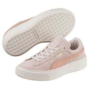Puma Suede Platform SNK PS, Sneakers Basses Mixte Enfant, Rose (Pearl-Peach Beige), 31 EU