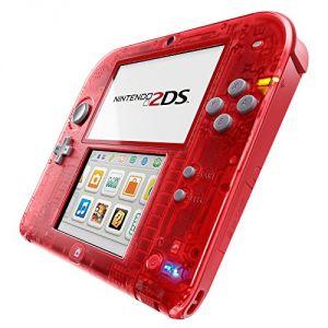 Nintendo 2DS transparente rouge avec Pokémon Rubis Oméga