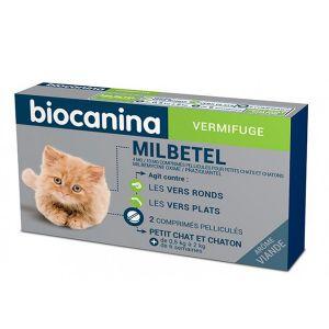 Biocanina Milbetel Vermifuge petit chat et chaton de 0,5 a 2 kg 2 comprimés