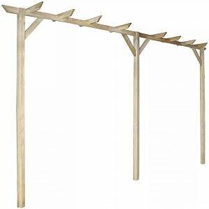 VidaXL Pergola de jardin en bois 400 x 40 x 205 cm
