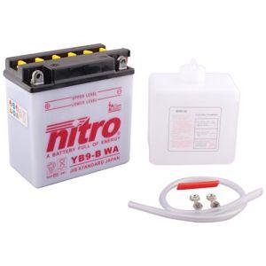 Nitro Batterie YB9-B ouvert avec pack acide Type Acide
