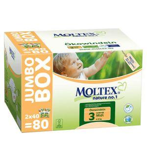 Moltex Couches taille 3 Eco-Midi 4-9 kg Jumbo Box - paquet de 80