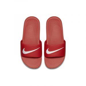 Image de Nike Claquette Kawa pour Jeune enfant/Enfant plus âgé - Rouge - Taille 29.5 - Unisex