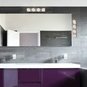 Faro Applique salle de bain Lass 4 lumières en métal et verre 44 cm