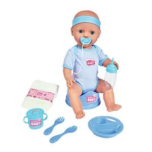 Simba Toys NEW BORN BABY Poupon Bleu 43cm Boit Fait Pipi - SILVERTORN