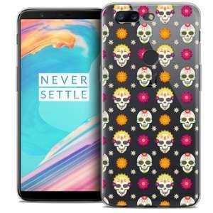 CaseInk Coque OnePlus 5T (6 ) Extra Fine Halloween Skull Halloween
