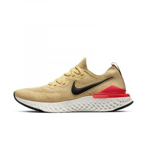 Nike Chaussure de running Epic React Flyknit 2 pour Homme - Or - Taille 45.5 - Male