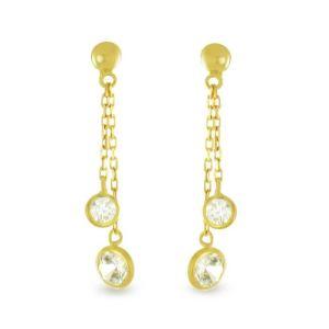 Rêve de diamants BOTC02024 - Boucles d'oreilles en or jaune 375° et oxydes de zirconium