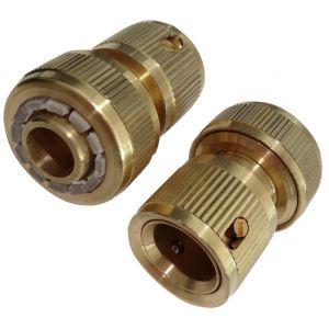 Aerzetix 2x Adaptateur en laiton connecteur raccord rapide vers tuyau 5/8