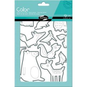 Maildor Gommettes Color Animaux de la forêt 60 pièces
