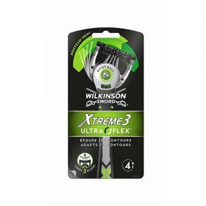 Wilkinson Xtreme 3 Ultra Flex - Rasoirs Jetables Masculins - Pack de 4