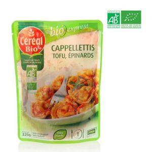 Céréal bio Cappellettis Tofu - épinards, sauce tomate, emmental chèvre, certifié AB