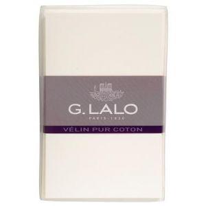 G. Lalo 29400L - Coffret de 10 cartes 8,5x13,5 350g/m² + 10 enveloppes visite gommées Vélin pur coton, coloris crème
