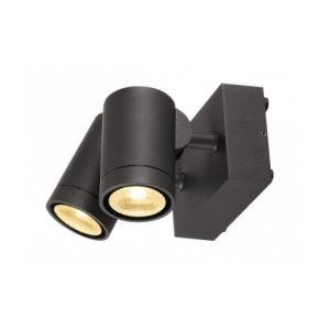DM Lights SLV - Double spot extérieur Helia LED IP55 H10 cm - Anthracite