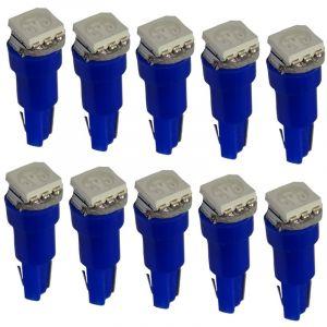 Aerzetix : 10x Ampoules T5 24V LED SMD bleu pour tableau de bord camion semi-remorque