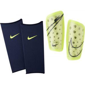 Nike Protège-Tibias Mercurial Lite - Jaune Fluo/Bleu Foncé - Jaune - Taille Small/150-160cm