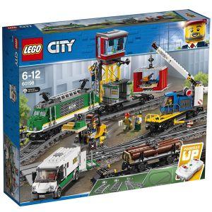 Lego 60198 - City : Le train de marchandises télécommandé