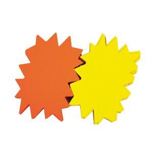 APLI Lot de 10 éclatés fluo effaçables en carton - AGIPA - 8 x 12 cm - Jaune / Orange
