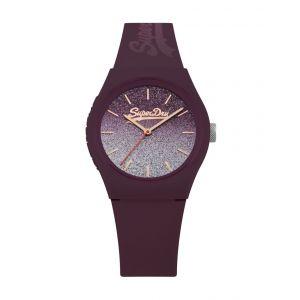 Superdry Montre Urban Ombré Glitter Femme Rouge - SYL179R