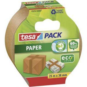 Tesa 05054-00007-01 Paper ecoLogo Ruban adhésif de papier d'emballage 25 m:38 mm Marron