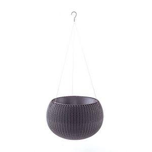 Curver Pot de fleur aspect tricot avec suspensions 28cm - Violet