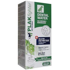 Agrobiothers VETOCANIS Eau dentaire Plak Fighter - 300 ml - Solution hygiène Bucco-Dentaire - Pour animaux de compagnie