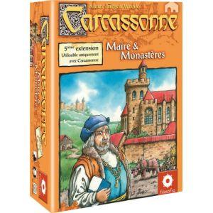 Asmodée Carcassonne l'extension 5 : Maire et monastères