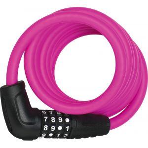 Abus Numero 5510 Combi - Antivol vélo - 180 cm SCMU rose/noir Câbles antivol