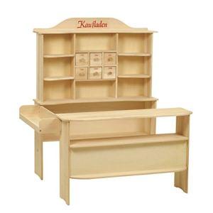 Roba Stand de vente en bois avec 6 étagères