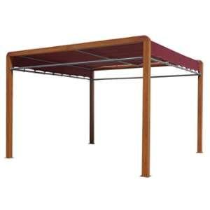 Habrita Pergola imitation bois structure aluminium