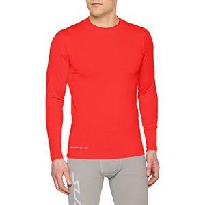 Uhlsport Baselayer Distinction - Maillot à manches longue - Homme - Rouge - Taille: M