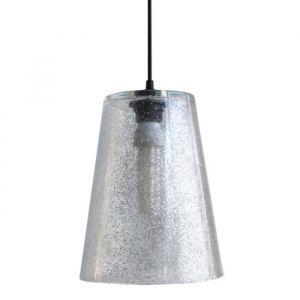 GLITTER CÔNE Suspension verre 20x20x90 cm Argent
