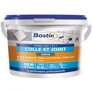 Bostik Colle et joint carrelage - gris - 5 Kg