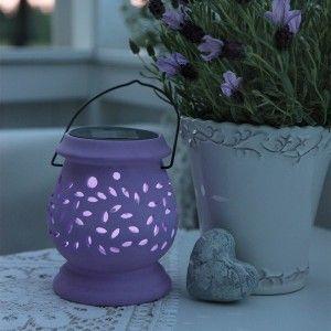 Best Season Clay - Lanterne solaire H14,5 cm